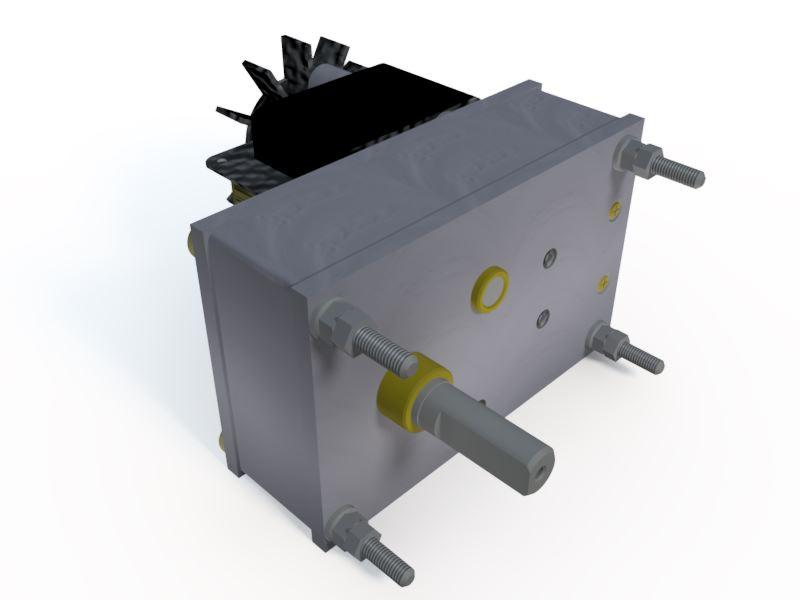Micro Motoredutor com 2,4 RPM Motor 127v 50w  G