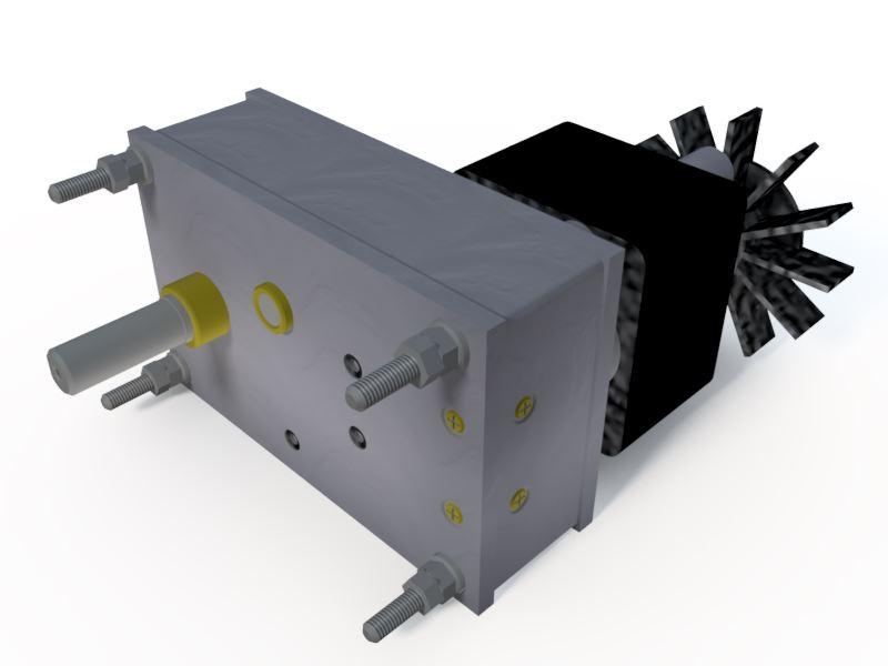 Micro Motoredutor com 1 RPM Motor 220v 50w  G