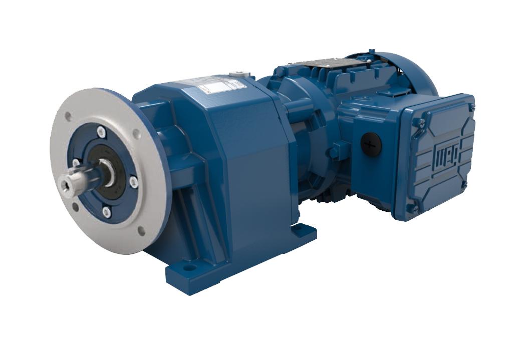 Motoredutor com motor de 0,25cv 101rpm Coaxial Weg Cestari WCG20 Trifásico G
