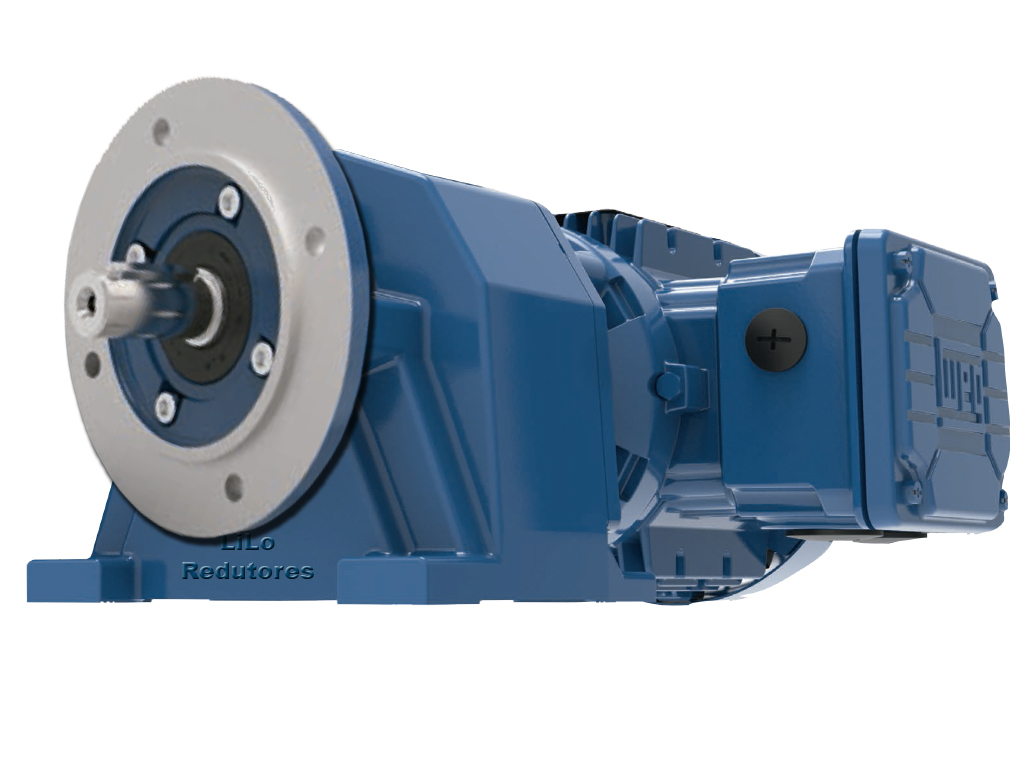 Motoredutor com motor de 0,75cv 717rpm Coaxial Weg Cestari WCG20 Trifásico G