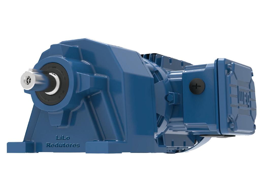Motoredutor com motor de 0,75cv 494rpm Coaxial Weg Cestari WCG20 Trifásico N