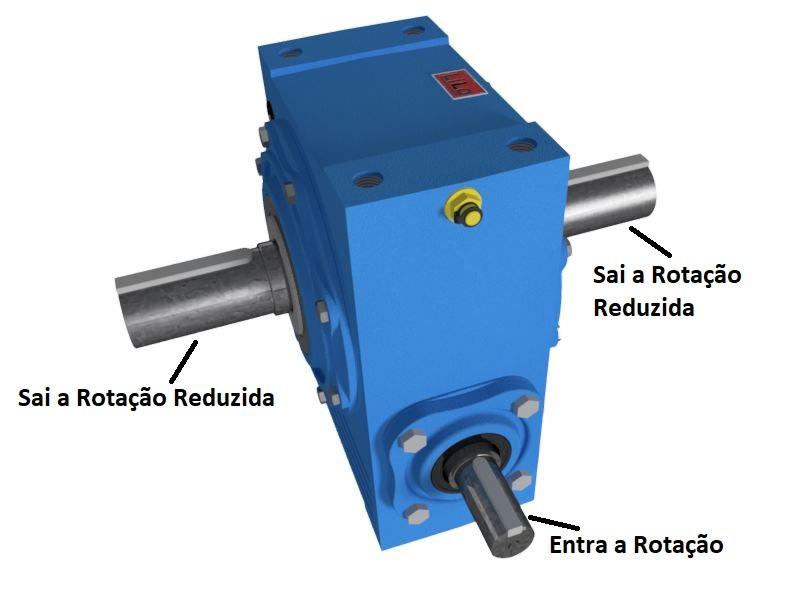 Redutor de Velocidade 1:10 para motor de 0,75cv Magma Weg Cestari D0
