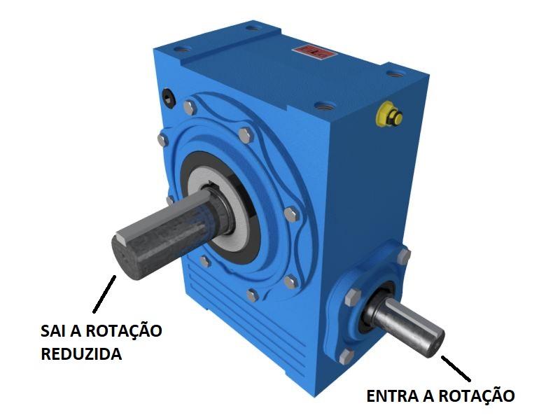 Redutor de Velocidade 1:100 para motor de 0,75cv Magma Weg Cestari E0