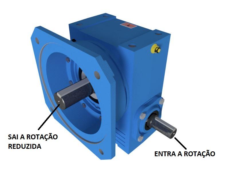 Redutor de Velocidade 1:25 para motor de 3cv Magma Weg Cestari E4
