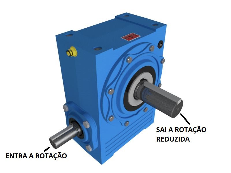 Redutor de Velocidade 1:25 para motor de 0,75cv Magma Weg Cestari N0