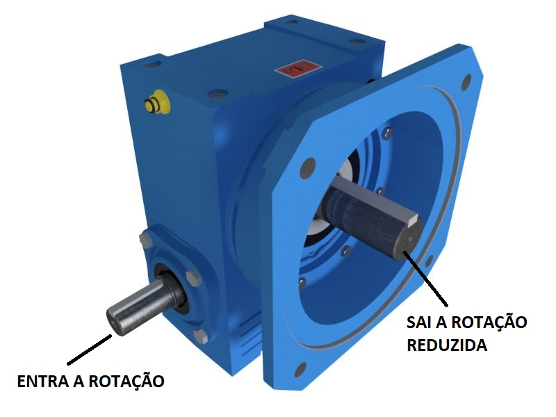 Redutor de Velocidade 1:100 para motor de 0,75cv Magma Weg Cestari N3