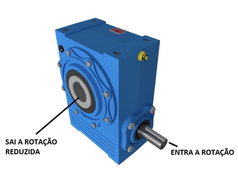 Redutor de Velocidade 1:25 para motor de 0,75cv Magma Weg Cestari V0