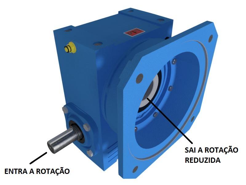 Redutor de Velocidade 1:10 para motor de 0,75cv Magma Weg Cestari V3
