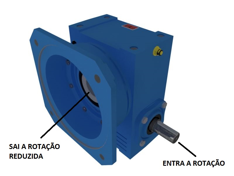 Redutor de Velocidade 1:40 para motor de 0,75cv Magma Weg Cestari V4
