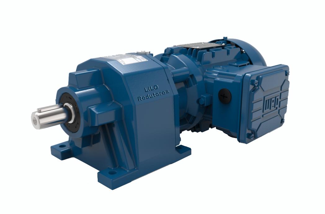 Motoredutor com motor de 0,75cv 7rpm Coaxial Weg Cestari WCG20 Trifásico N