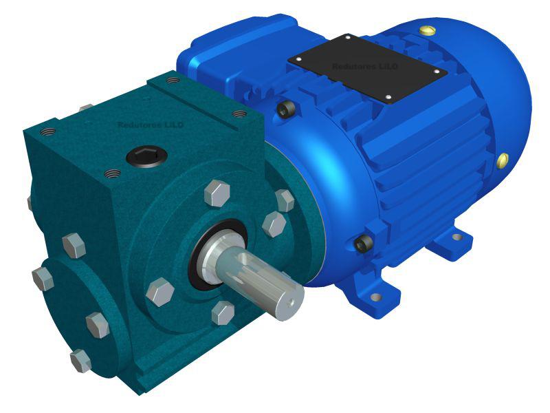 Motoredutor Redução de 1:50 com Motor de 0,33cv 4Polos WD1