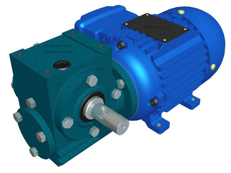 Motoredutor Redução de 1:50 com Motor de 0,33cv 4Polos WN2