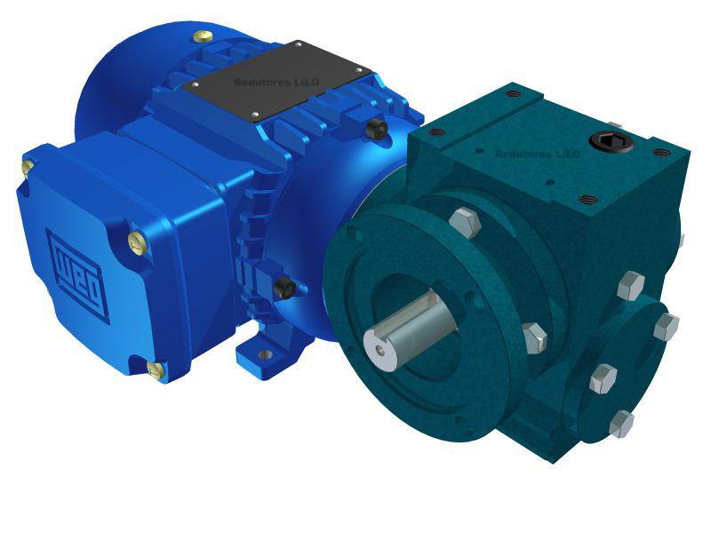 Motoredutor Redução de 1:25 com Motor de 0,33cv 4Polos WN14