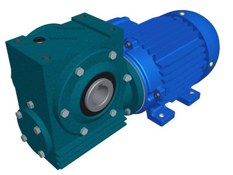 Motoredutor Redução de 1:25 com Motor de 0,5cv 4Polos WV1