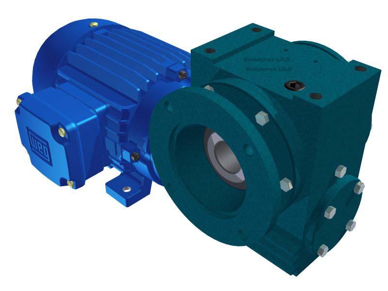 Motoredutor Redução de 1:60 com Motor de 0,5cv 4Polos WV8