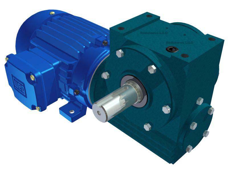 Motoredutor Redução de 1:100 com Motor de 2cv 4Polos WN1