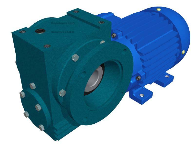 Motoredutor Redução de 1:100 com Motor de 2cv 4Polos WV7