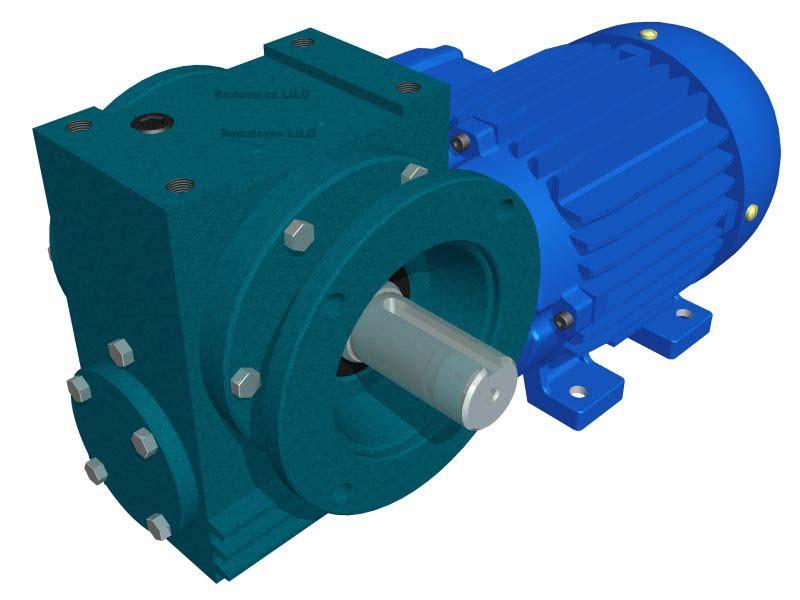 Motoredutor Redução de 1:60 com Motor de 3cv 4Polos WN15
