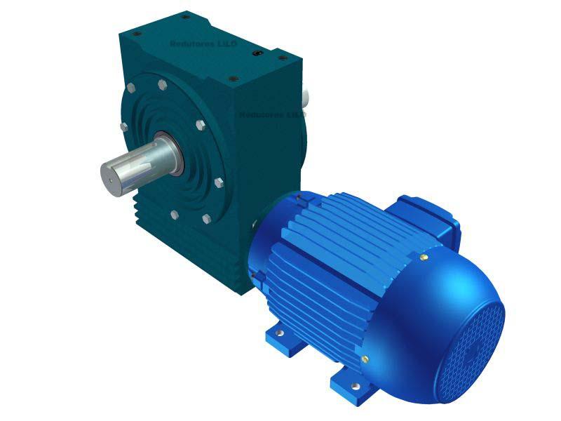 Motoredutor Redução de 1:50 com Motor de 4cv 4Polos WD1