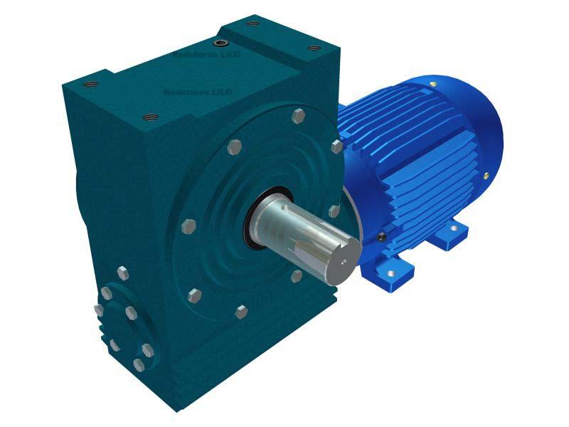 Motoredutor Redução de 1:80 com Motor de 4cv 4Polos WN2