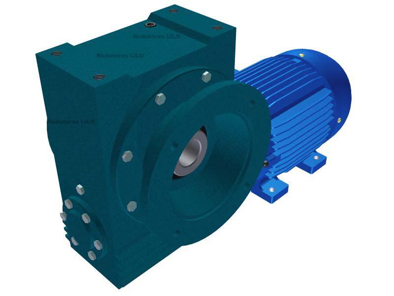 Motoredutor Redução de 1:25 com Motor de 5cv 4Polos WV7