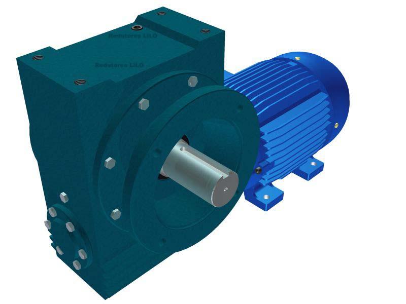 Motoredutor Redução de 1:40 com Motor de 7,5cv 4Polos WN15