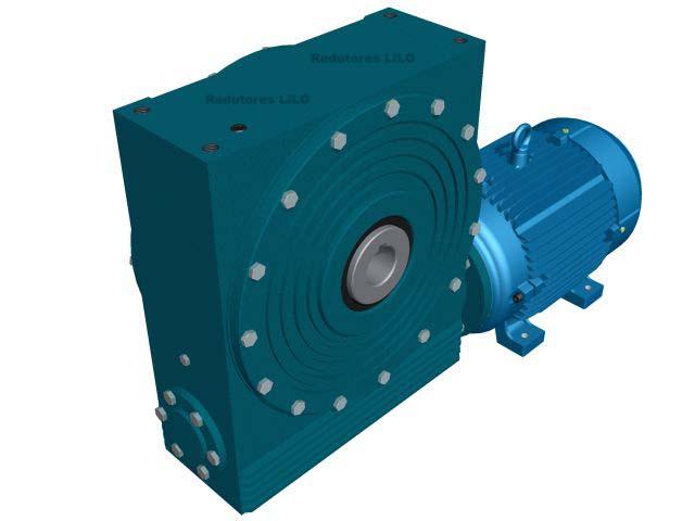 Motoredutor Redução de 1:48 com Motor de 10cv 4Polos WV1