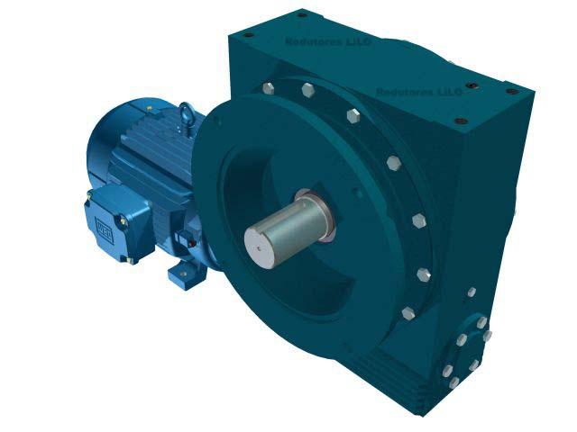 Motoredutor Redução de 1:10 com Motor de 15cv 4Polos WN14