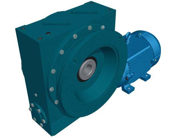 Motoredutor Redução de 1:10 com Motor de 15cv 4Polos WV7