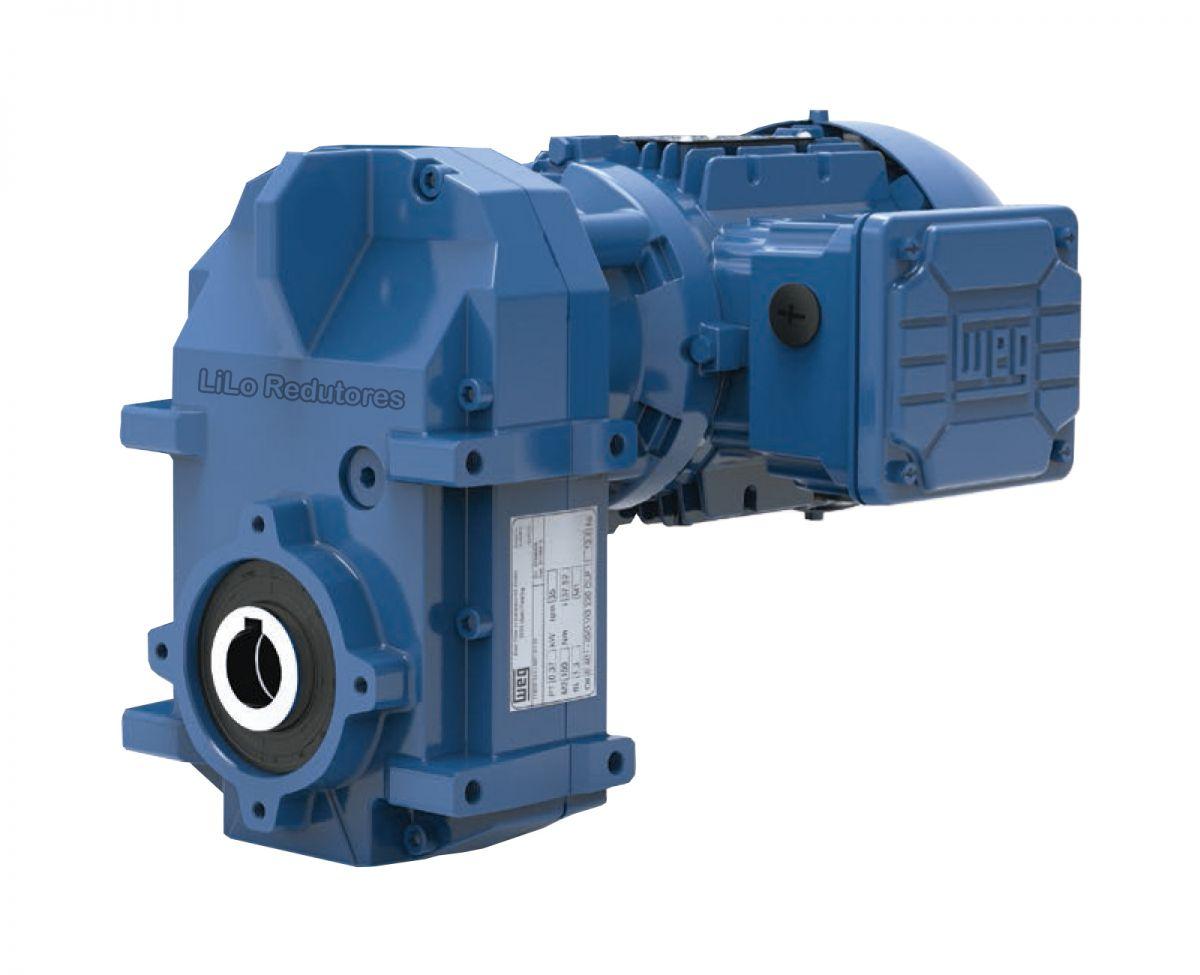 Motoredutor com motor de 0,75cv 47rpm Vertimax Weg Cestari WCG20 Trífasico BC
