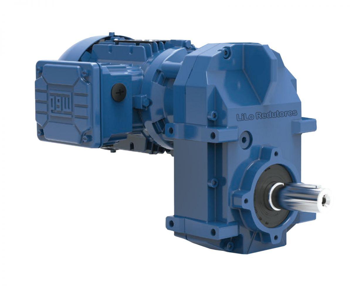 Motoredutor com motor de 0,5cv 89rpm Vertimax Weg Cestari WCG20 Trífasico NA