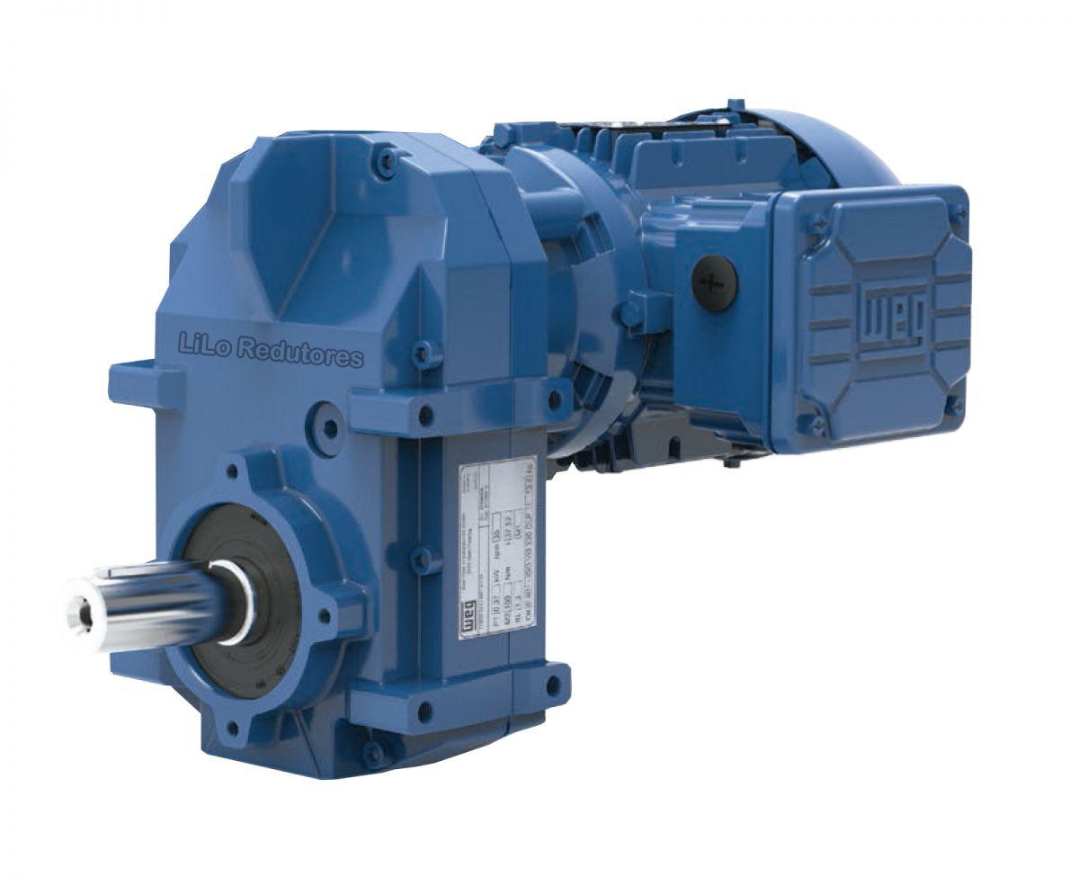 Motoredutor com motor de 0,5cv 106rpm Vertimax Weg Cestari WCG20 Trífasico NA