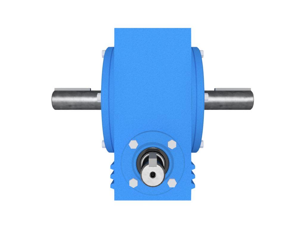 Redutor de Velocidade Tamanho ERV-061 Modelo Coroa e Rosca Sem Fim D1