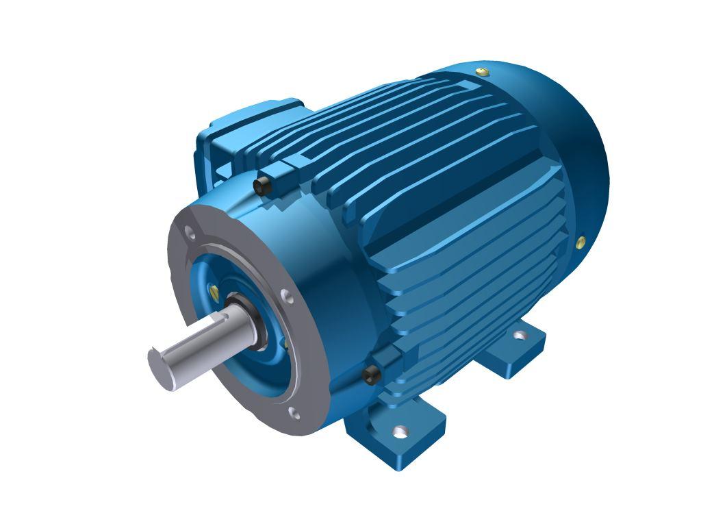 Motor Elétrico Weg de 0,5cv, 850 RPM, 220/380v Trifásico com Flange FC 140 DIN