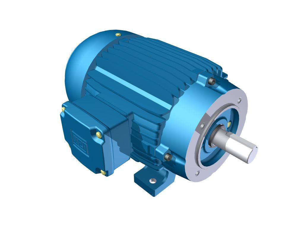 Motor Elétrico Weg de 2cv, 3385 RPM, 220/380v Trifásico com Flange FC 120 DIN
