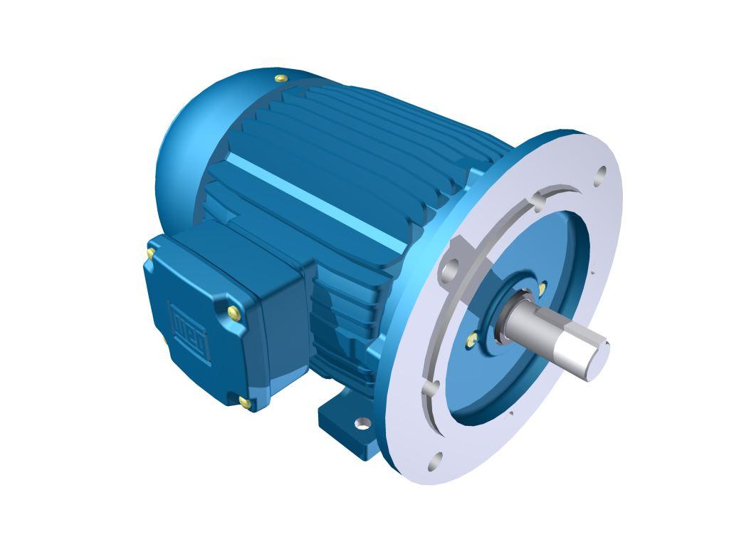 Motor Elétrico Weg de 0,25cv, 3350 RPM, 220/380v Trifásico com Flange FF 115