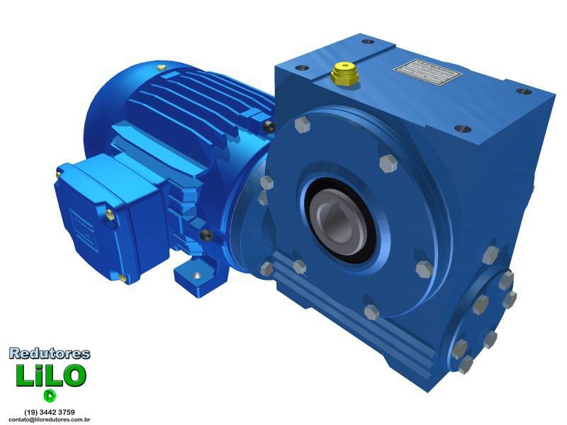 Motoredutor Redução de 1:80 com Motor de 3cv 4Polos WV1
